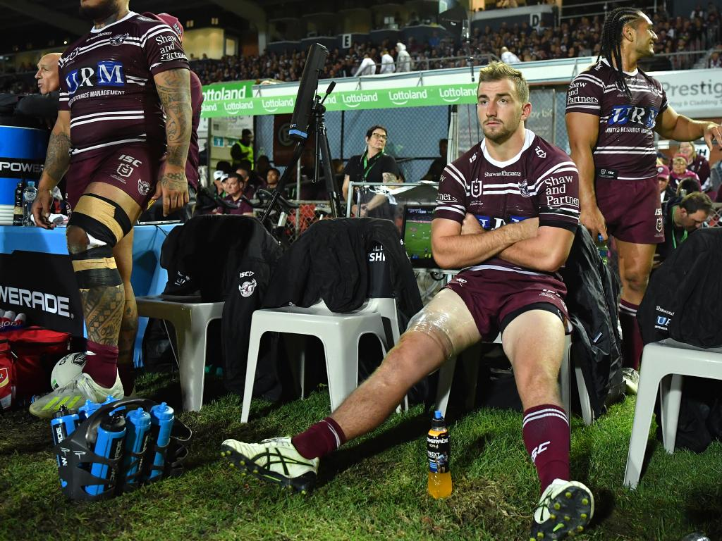 Lachlan Croker's injury leaves the Sea Eagles looking for a playmaker. Picture: AAP Image/Joel Carrett