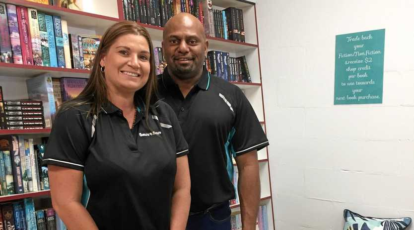 WRITE STUFF: Shelley and Lionel Warcon have opened the doors at Shell's Bell's Bookshop.