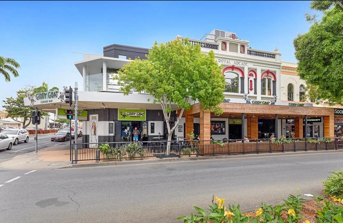 Giddy Goat Cafe and Bar in Rockhampton's East St is going to auction on February 27. It is expected to go for more than $3.5million.