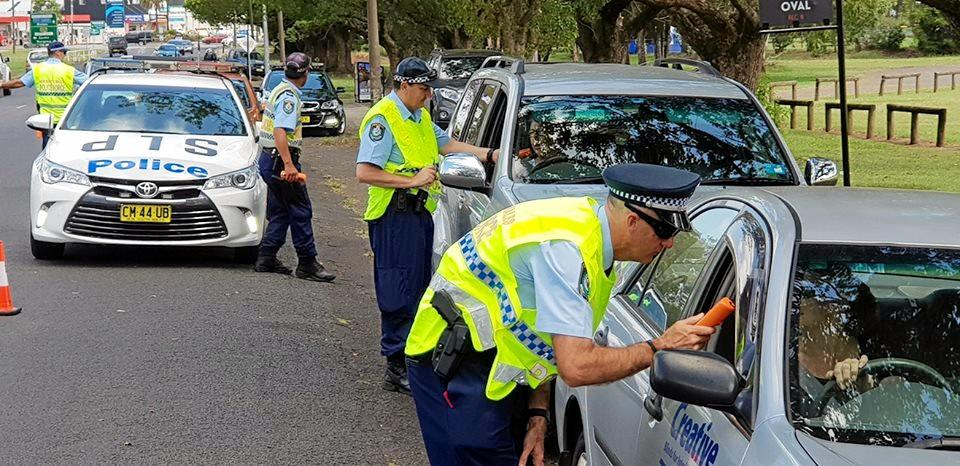 TESTING TIMES: Police conducted random breath and drug tests over the weekend to coincide with the Nimbin Mardi Grass Festival.