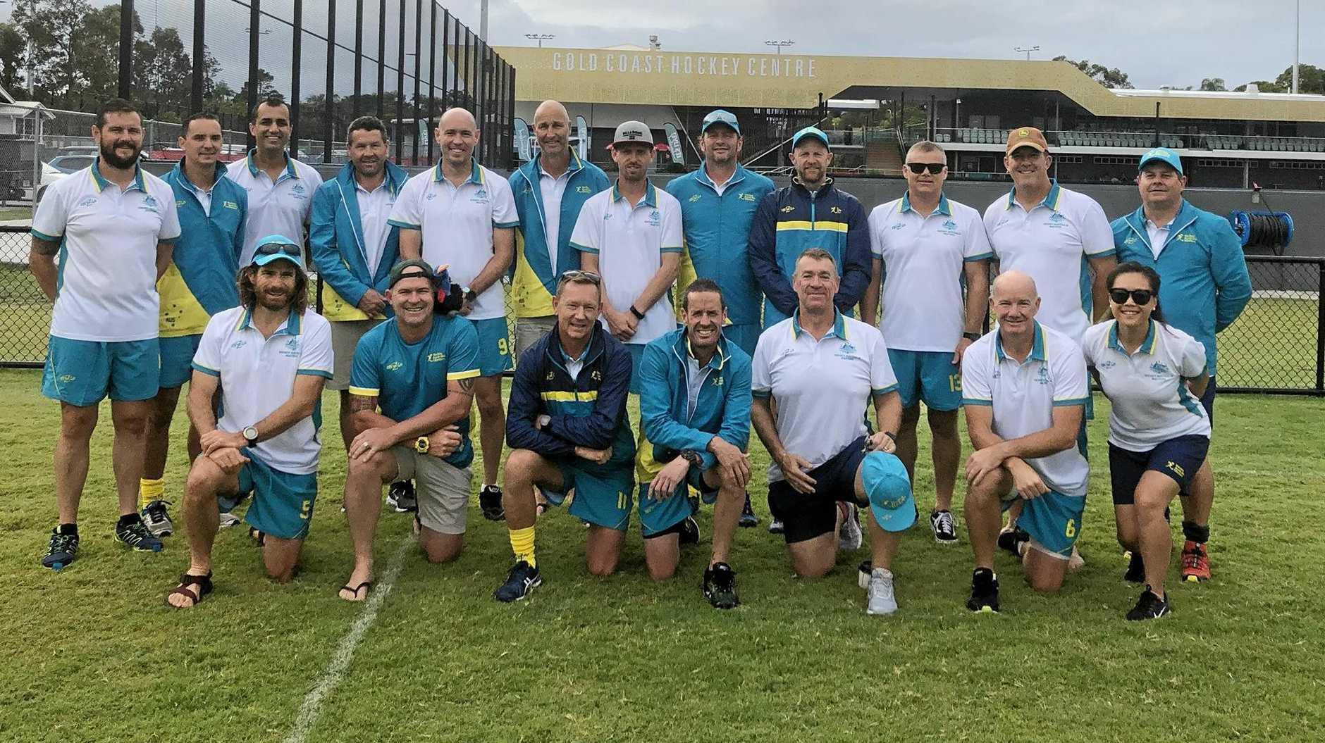 The victorious Australian O45 team.