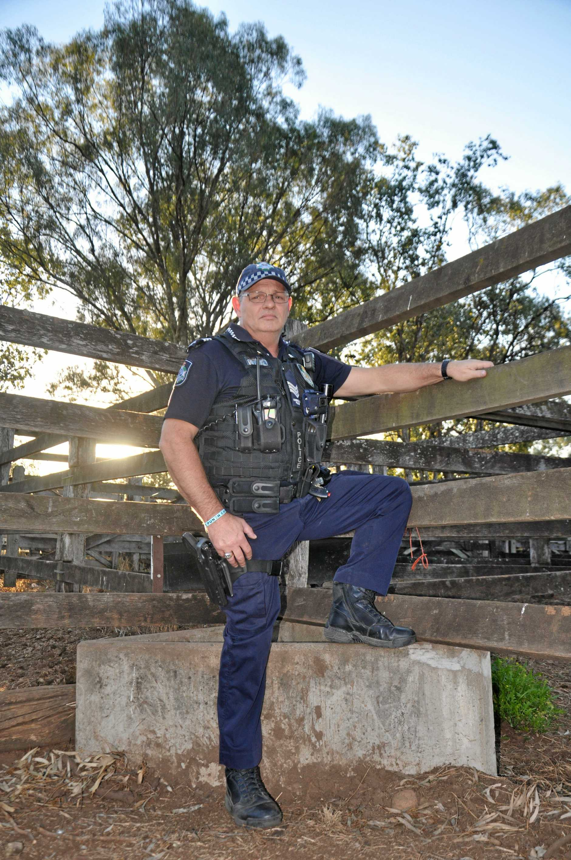 TEAM EFFORT: Officer in charge of the Monto Police Station, Sergeant Mick Bazzo, worked with other emergency services to rescue a woman who fell at Cania Gorge.