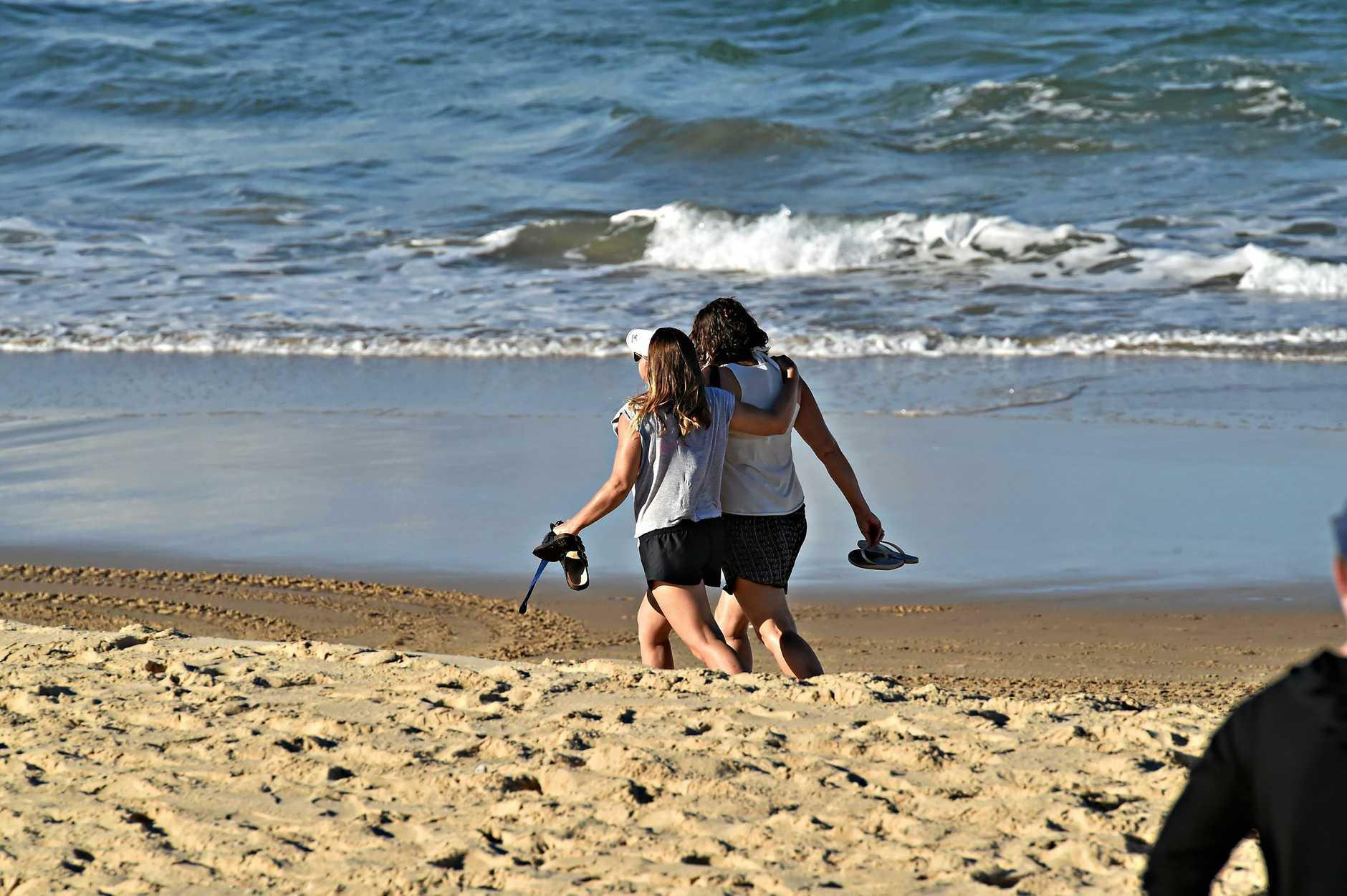 Family and friends at Mudjimba Beach.