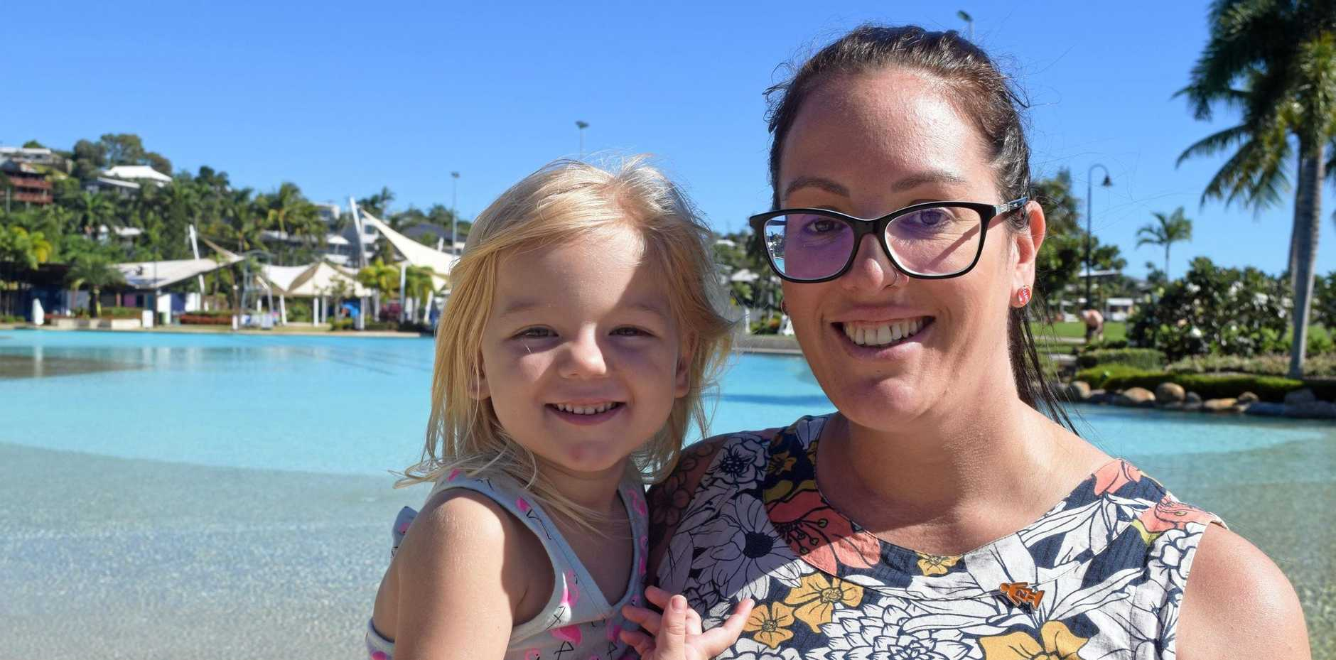 Cannonvale's Mez Bowen and daughter Piper Bowen, 3, are ready to celebrate Mother's Day on Sunday.