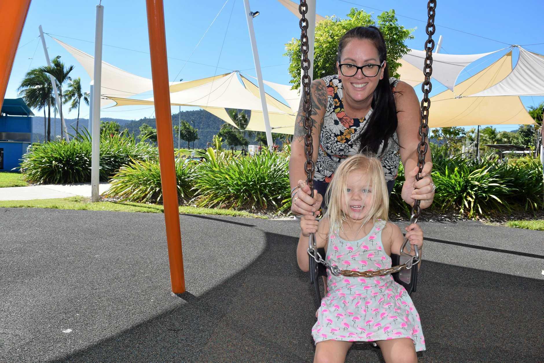 Cannonvale's Mez Bowen with daughter Piper Bowen, 3.