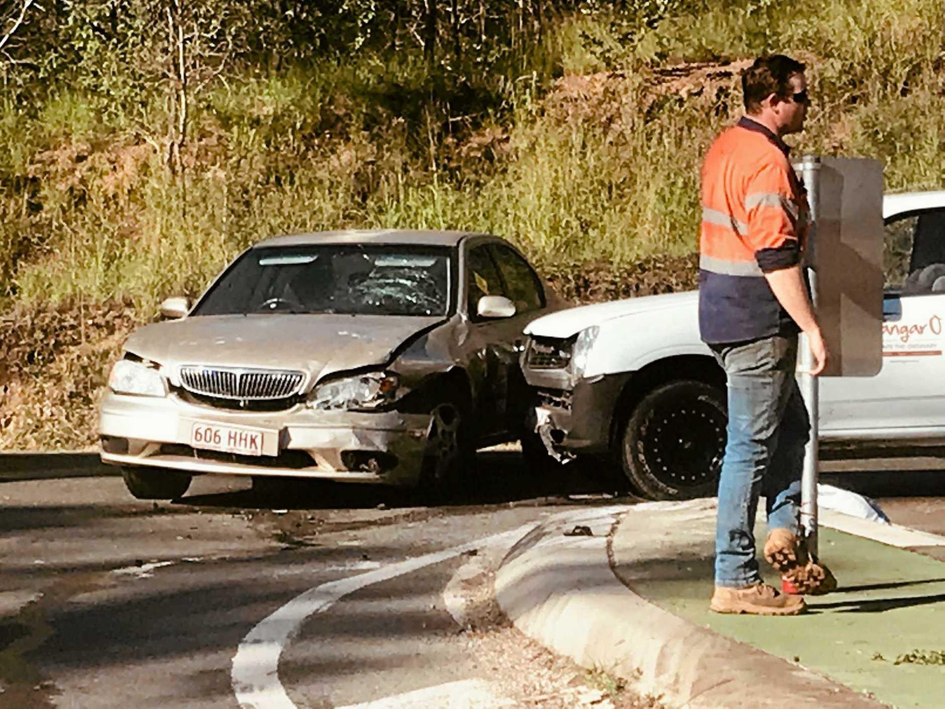 Crash at Bells Bridge Bruce HIghway intersection