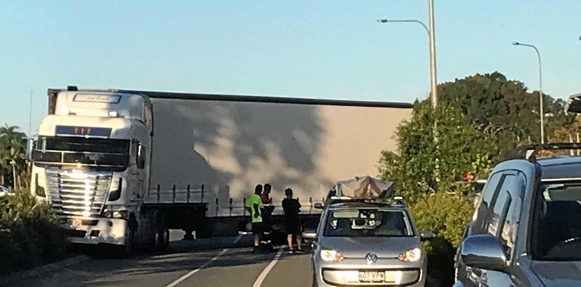 WATCH: Truck's epic Bunnings fail causes mega traffic jam