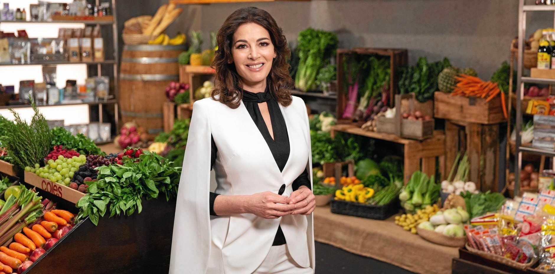 Nigella Lawson returns as a guest chef in season 11 of MasterChef Australia. Supplied by Channel 10.