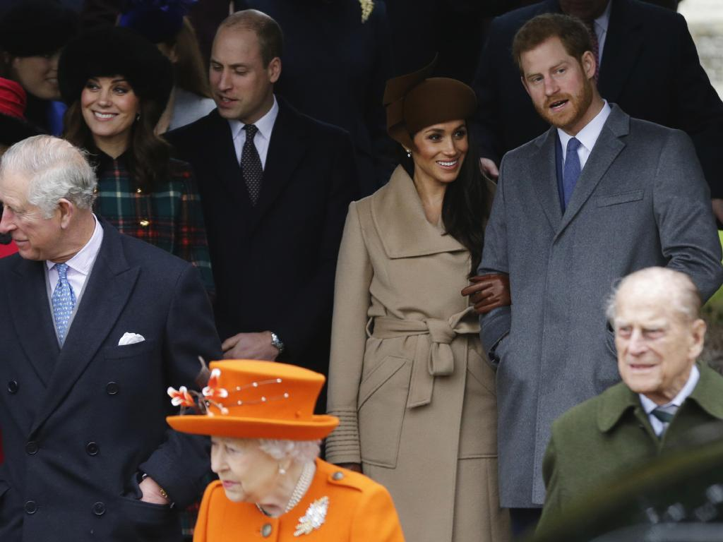 Rumours of a feud between the princes and their wives have dogged the 'fab four'. Picture: AP Photo/Alastair Grant, File