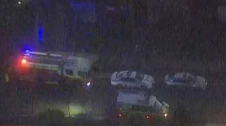 A cyclist has died after being hit by a car in Sydney. Picture: Channel 9