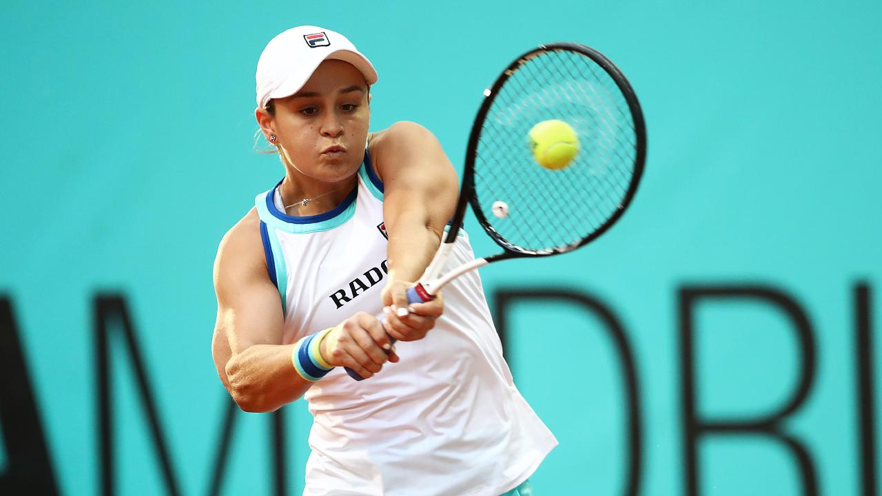 Ashleigh Barty continued her unbeaten streak in the Madrid Open. Picture: Getty Images
