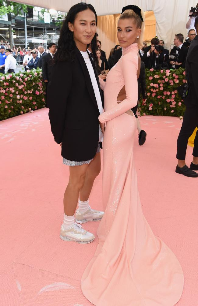 Alexander Wang, left, was behind the jaw-dropping design. Picture: AFP