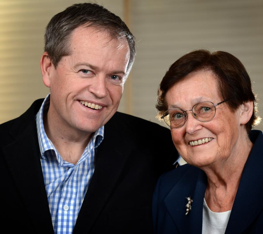 Mr Shorten and his mum, Ann Shorten
