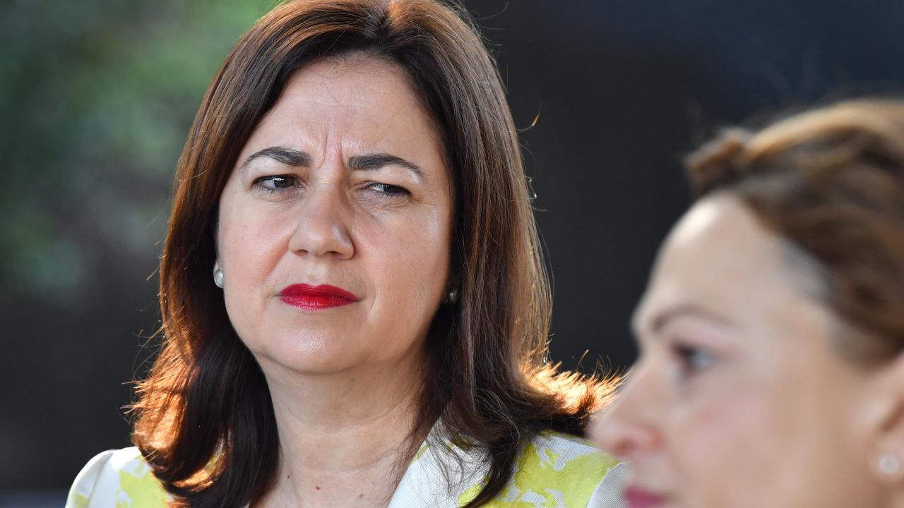 Queensland Premier Annastacia Palaszczuk and Deputy Premier and Treasurer Jackie Trad. File picture: Darren England/AAP