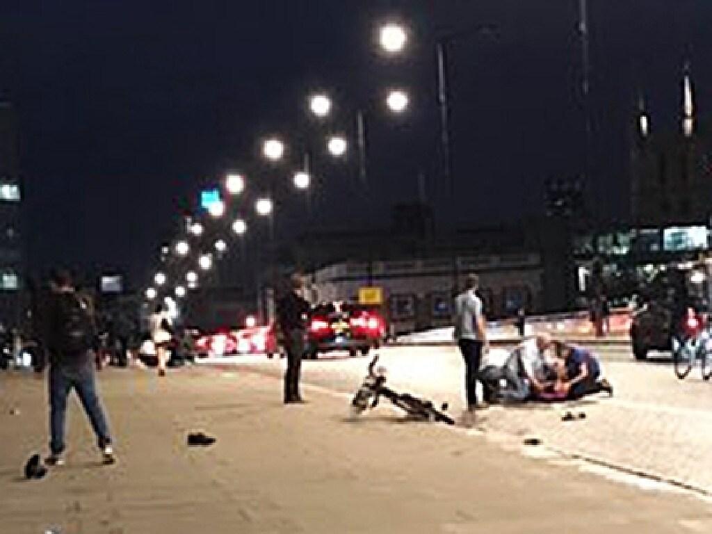 The scene of the London Bridge terror attack.