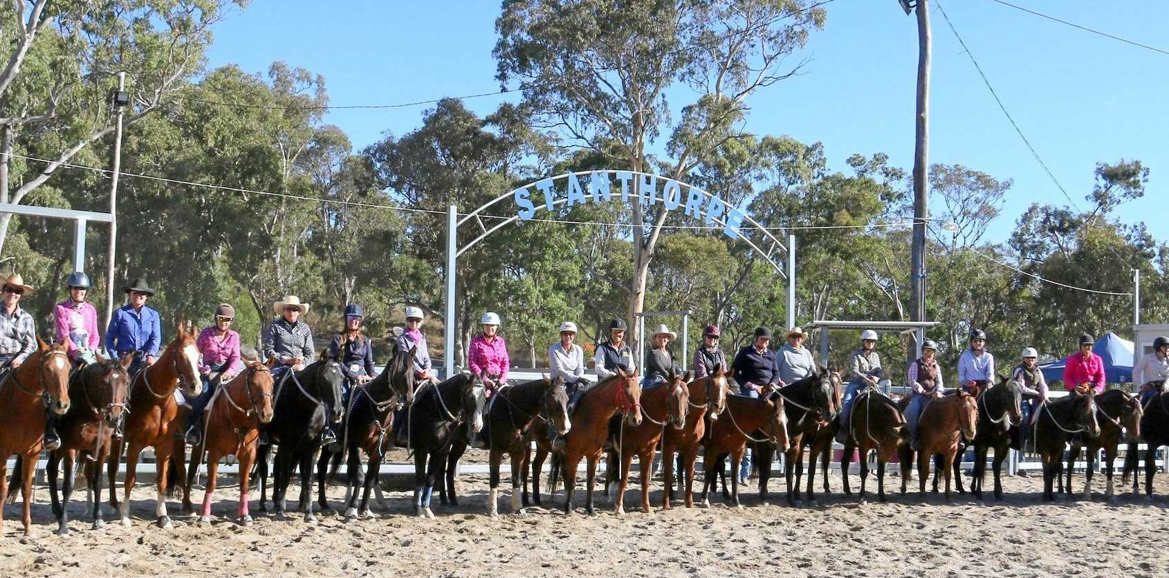 FUN DAY FOR MUMS: Mum's Run participants at the 2018 Stanthorpe Campdraft.