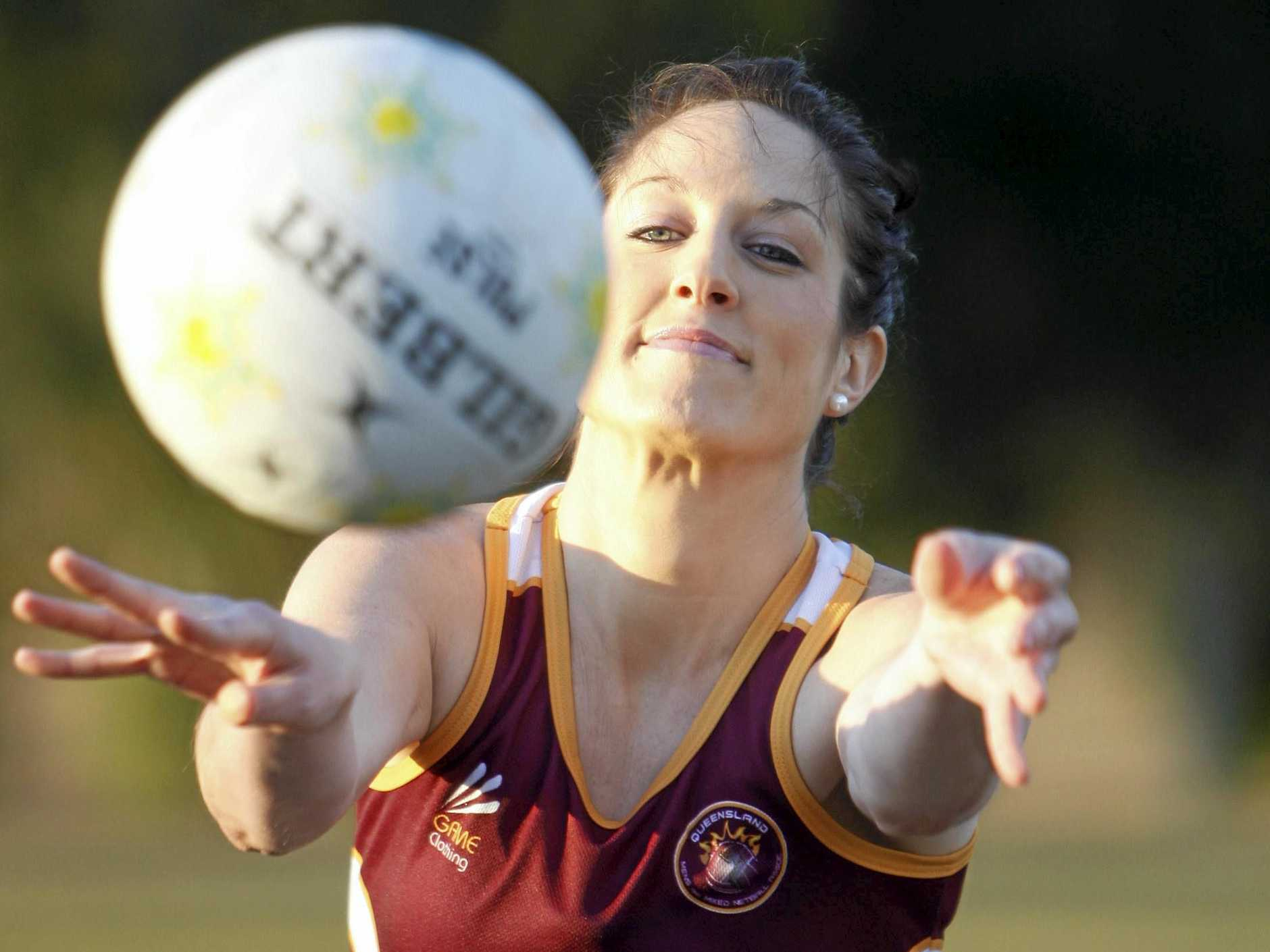 PLAYER FLASHBACK: Ipswich Flyers' new coach Nicole Grant (nee Cude) when she was selected in the Australian mixed netball team.