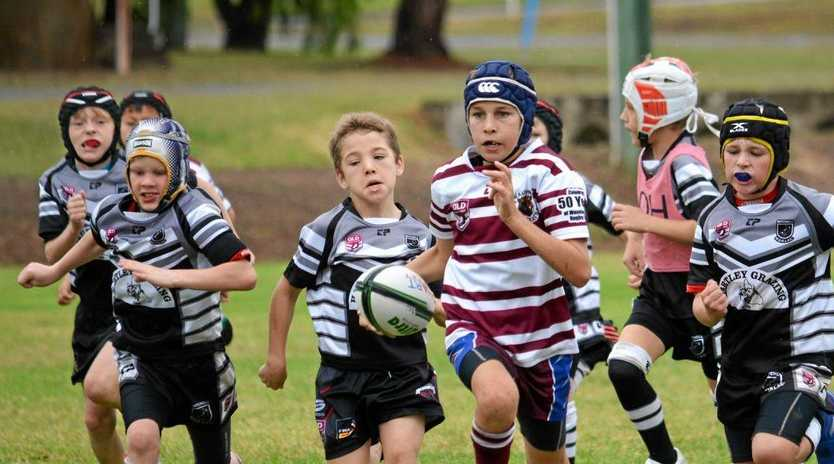 Under-10s competing in the inaugural Kirk Reynoldson cup in Wandoan.