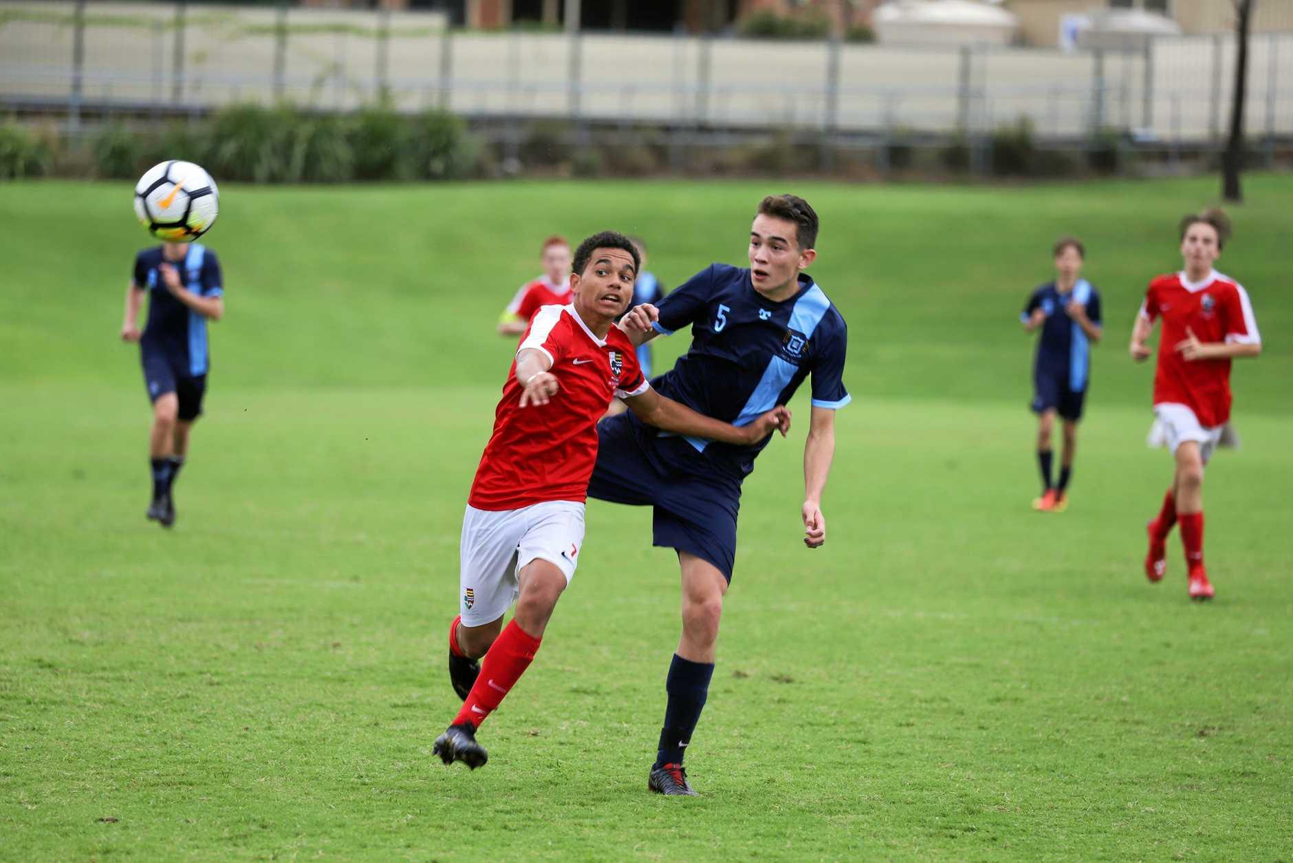 Ipswich Grammar School goal scorer Darryl Barton.