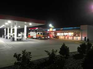Possible attempted arson at Rocky servo