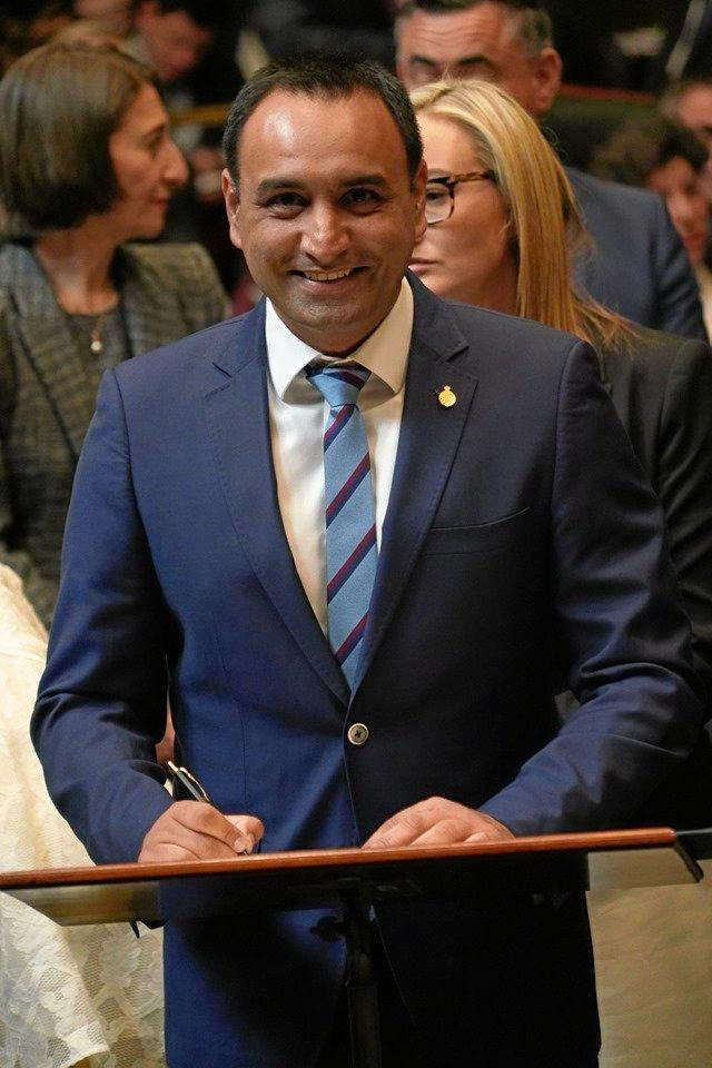 Gurmesh Singh was officially sworn into NSW Parliament.