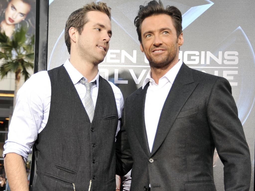 Ryan Reynolds and Hugh Jackman. Picture: Kevin Winter/Getty Images