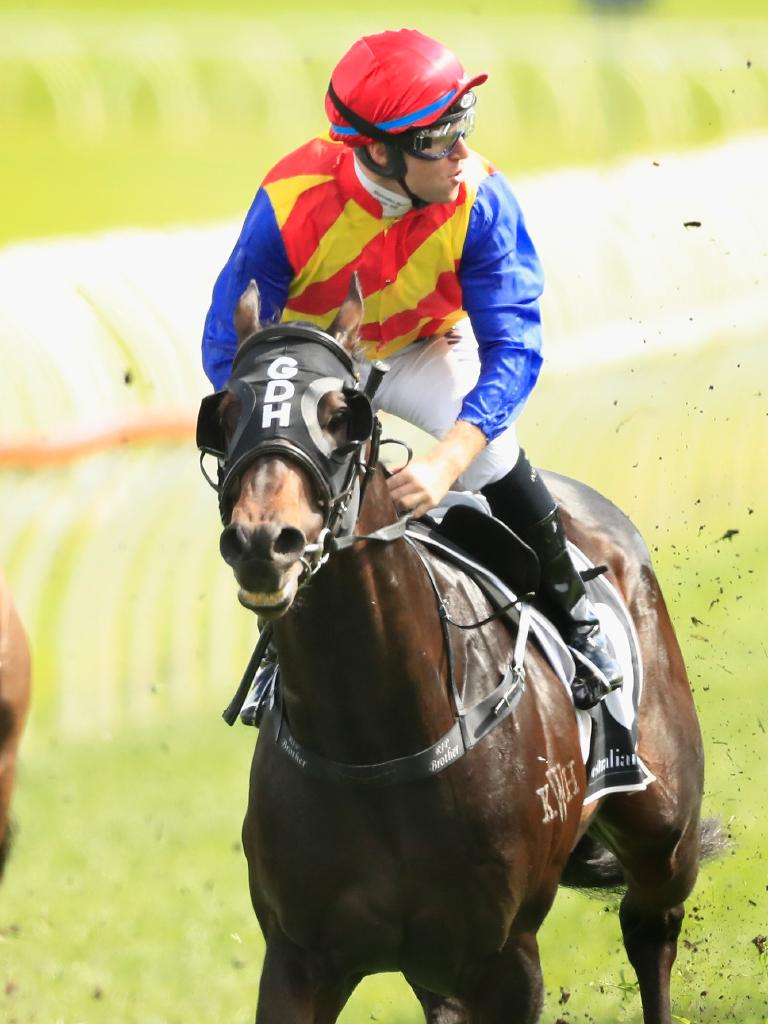 Tommy Berry salutes on Pierata. Picture: Getty