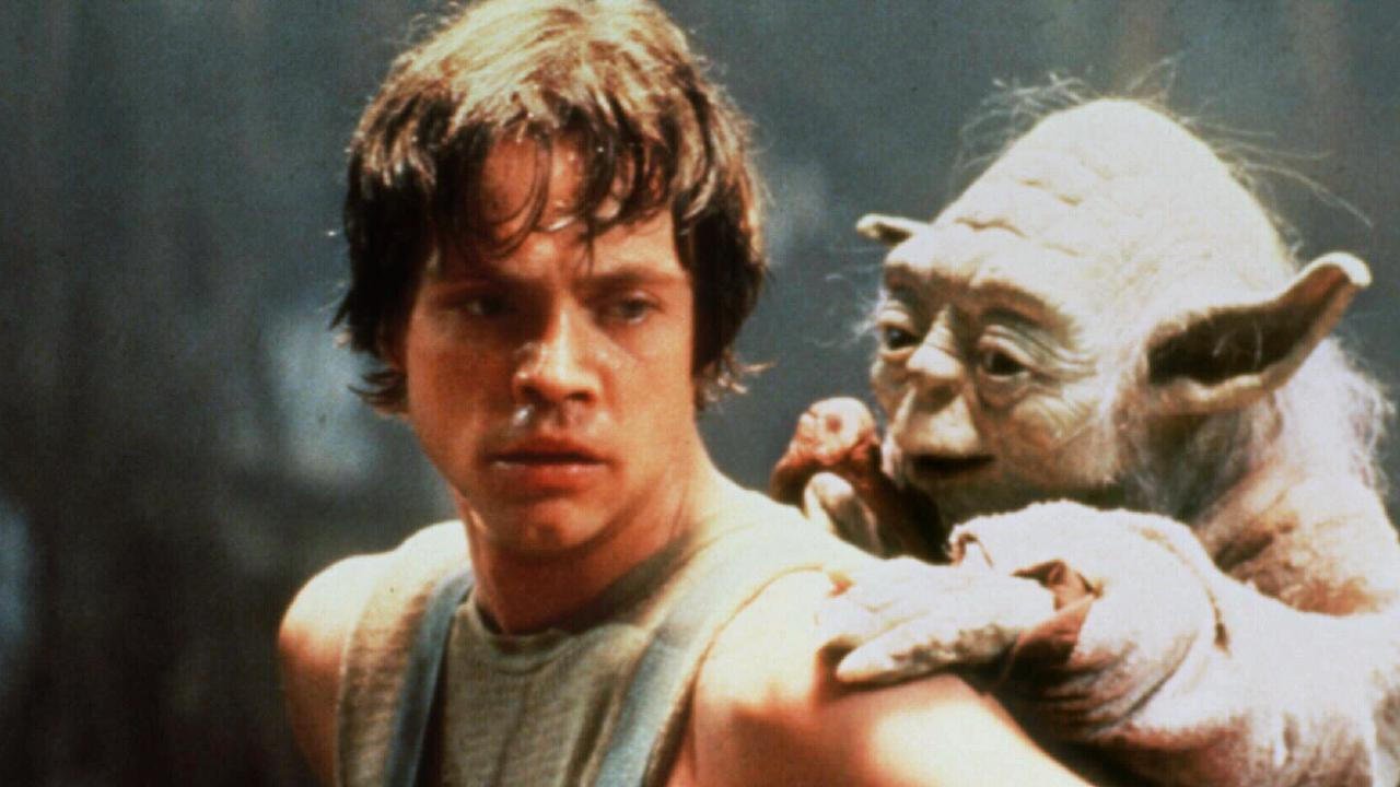 The OG Star Wars gang: Luke Skywalker (Mark Hamill) and Yoda.