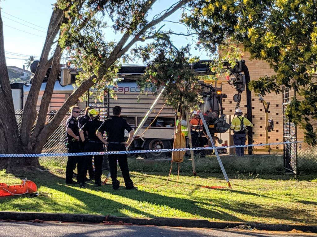 Body found in drain on Brisbane's bayside at Wynnum. Picture: David Clark