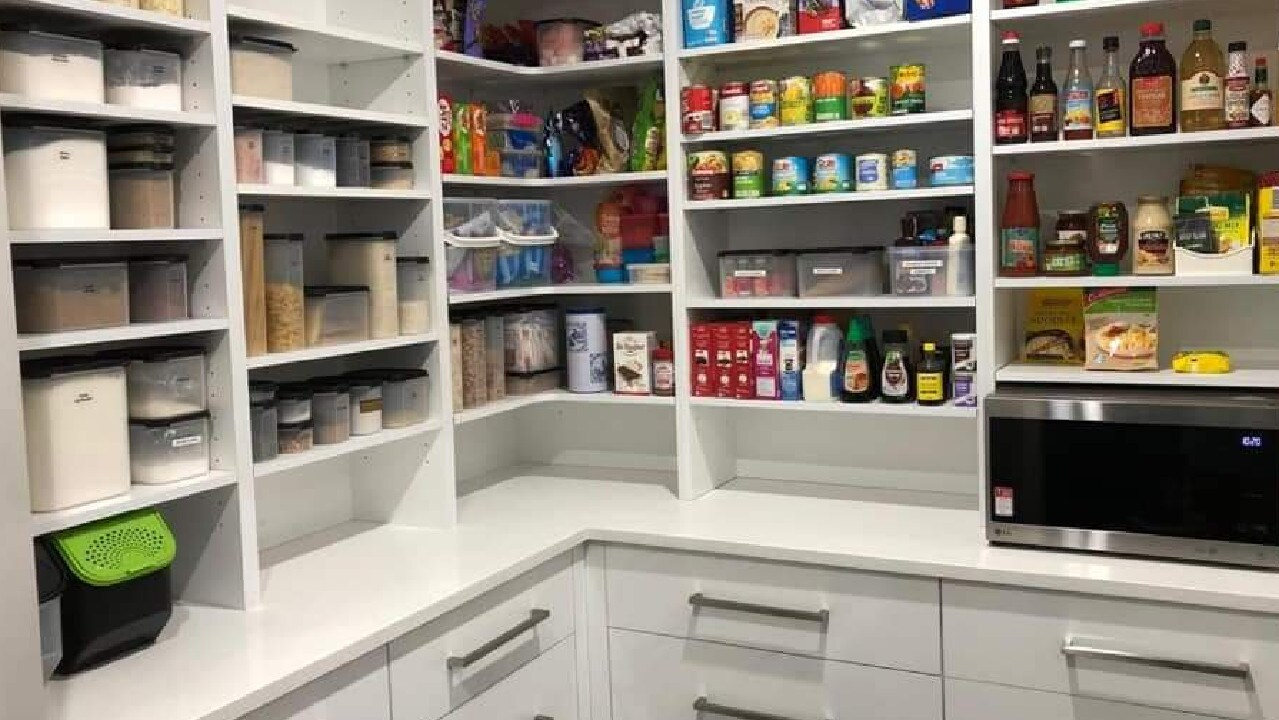 Emma posted a photo of her finished pantry.