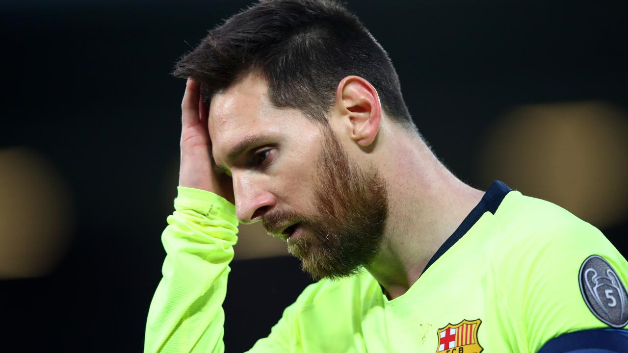 It was a tough night at the office for Lionel Messi.