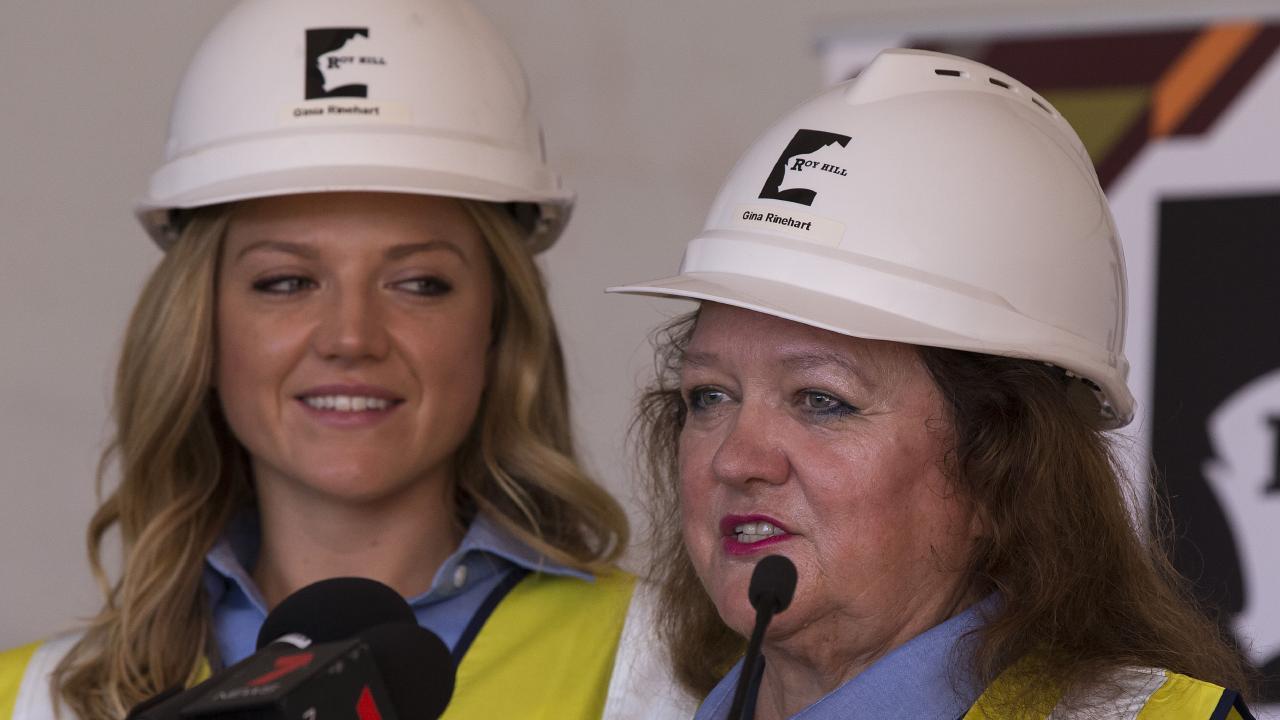Ginia Rinehart, left, has sided with her mother Gina Rinehart.