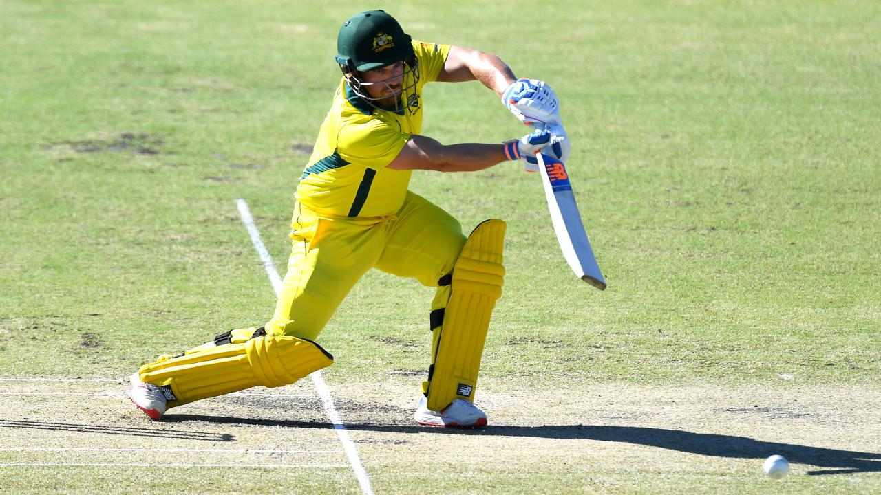 Aaron Finch found scoring tough against a disciplined Kiwi attack.
