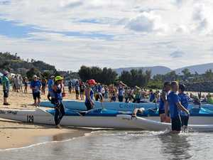 Outriggers hit Airlie waters
