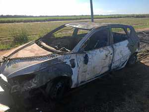 Stolen car found 'engulfed by flames' this morning