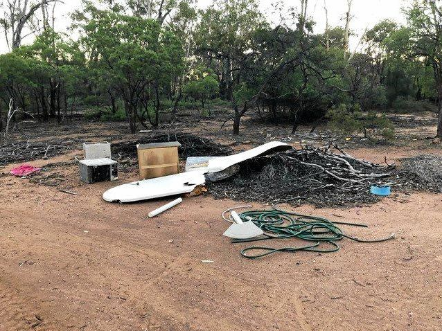 DUMPING GROUND: Just some of the rubbish being dumped illegally in the Sapphire area.