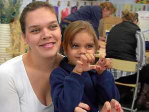 PAMPER SESSION: Adorable kindy children give mums a makeover