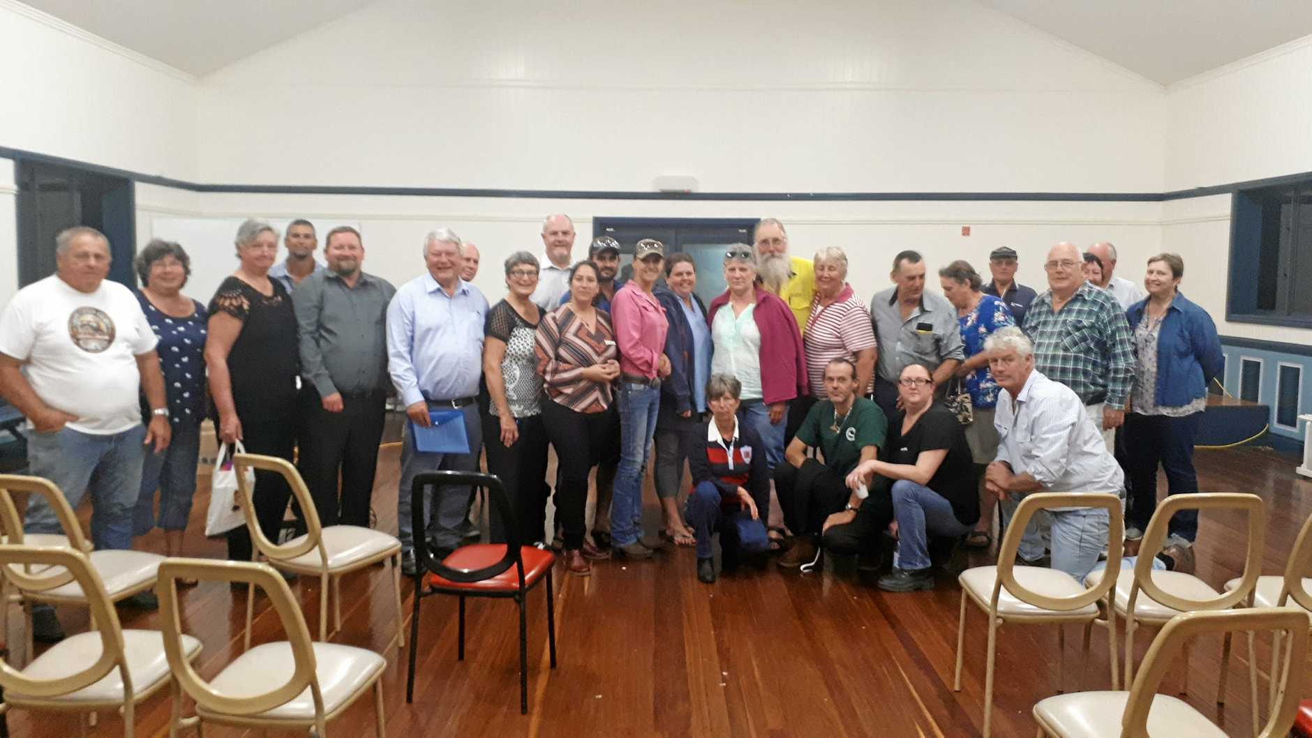 Mark McLachlan was the convenor of a public meeting including councillors Peter Masters and Rick Hansen, and federal member for Flynn Ken O'Dowd.