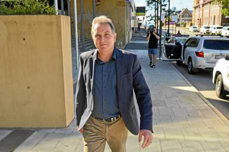 David Morrison leaving court after appearing as a witness in the trial of former mayor Andrew Antoniolli.