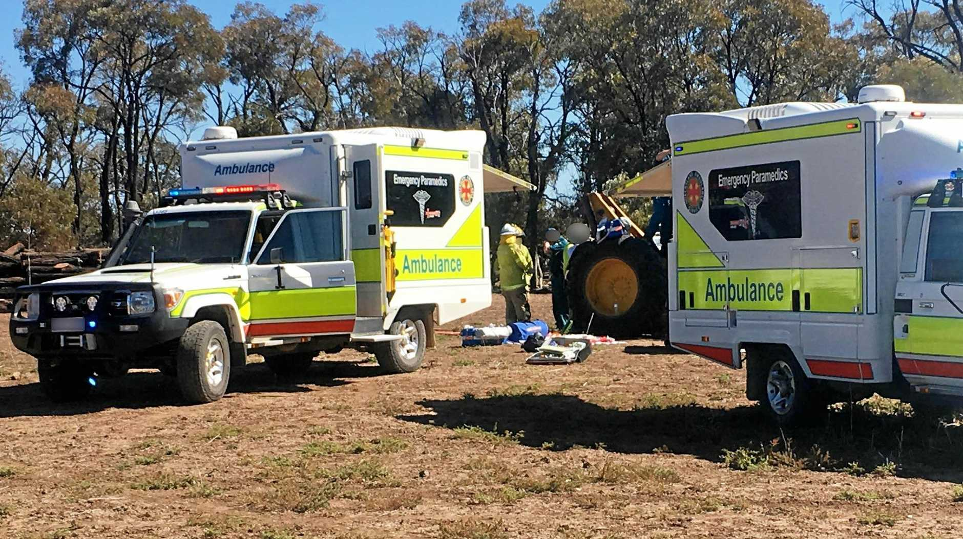 FREAK ACCIDENT: Ambulances were called to the scene of a freak work incident which resulted in a boy losing his leg.