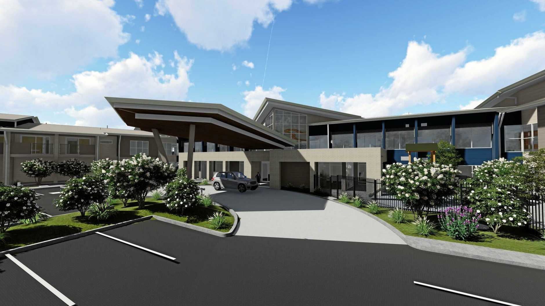 An artist's impression of the new Mackay aged care facility.