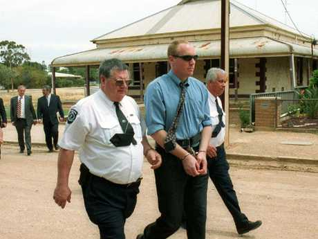 Robert Joe Wagner in Snowtown as the jury tour the town in October 2002. Picture: Milnes Michael