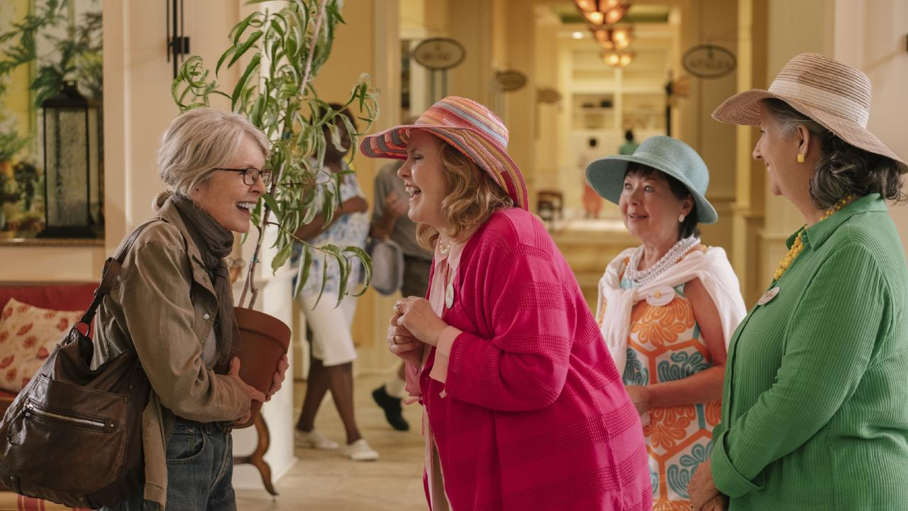 Diane Keaton in a scene from the movie Poms. Roadshow Films.