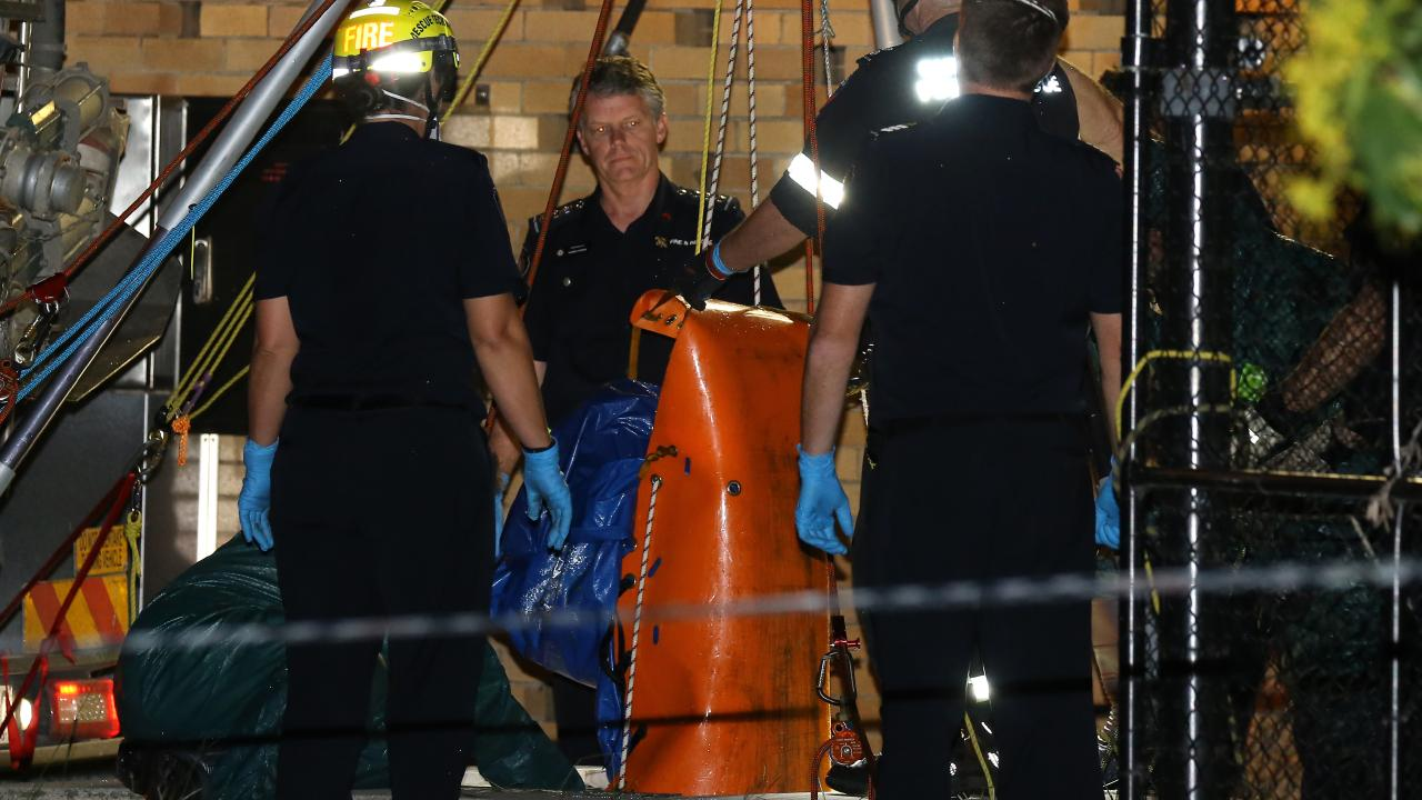 A body was found down a sewage drain near the Wynnum foreshore on Wednesday. Picture: AAP/image David Clark