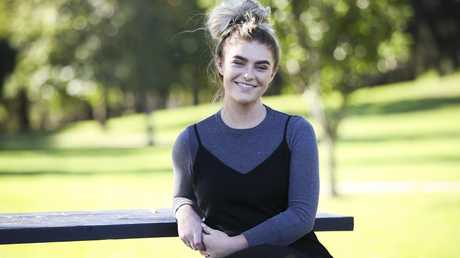 Hairdressing apprentice Ellie Sprowles' main concerns are climate change and apprentice wages. Picture: Dylan Robinson