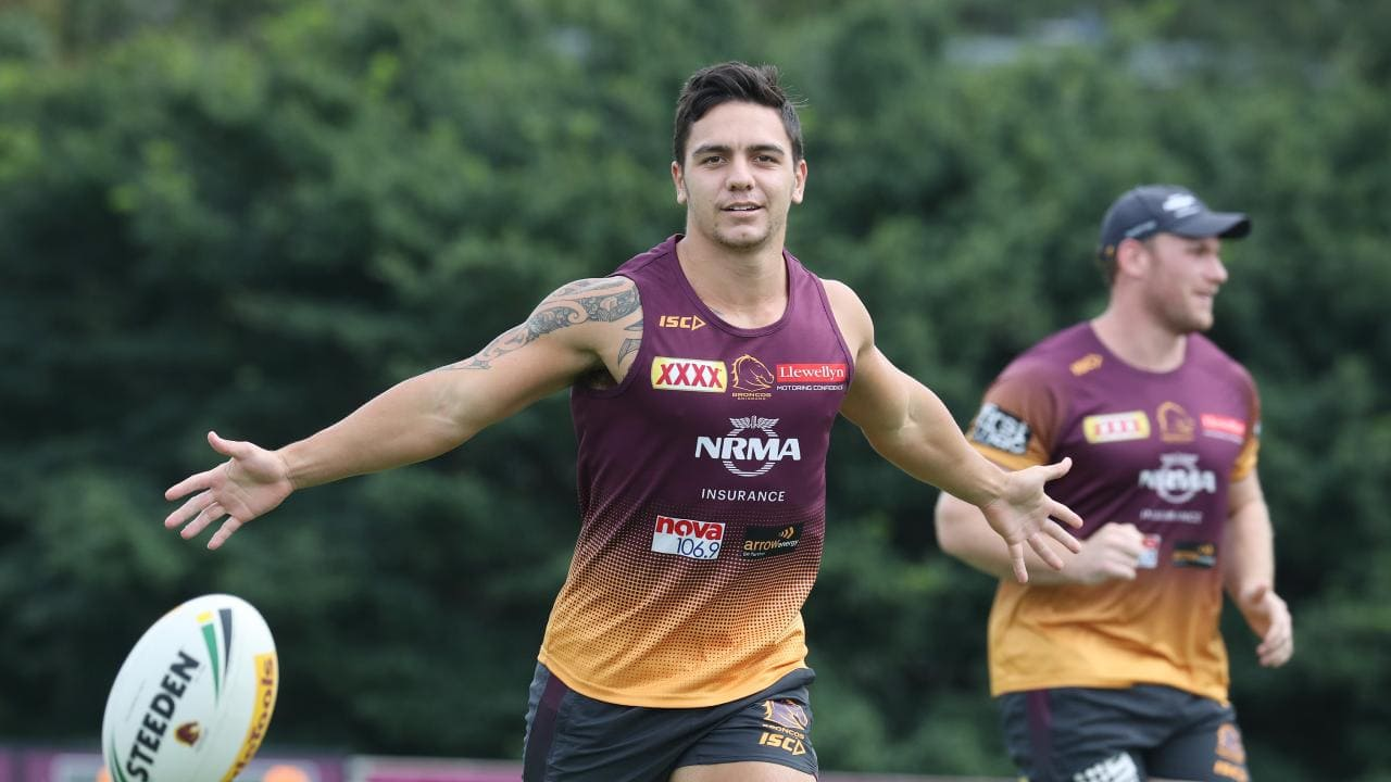 Brisbane players expressed their shock at Kodi Nikorima's sudden exit from Red Hill. Picture: Annette Dew