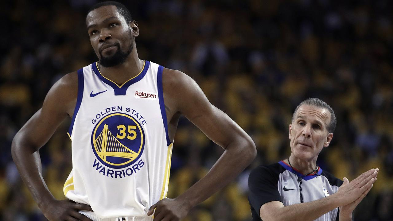 Durant faces a nervous wait. Picture: AP