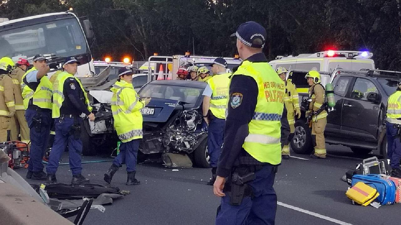 Westmead Hospital have confirmed they received nine patients from the crash Picture: Steve Hart / Twitter @SteveHart10News