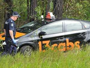 MANHUNT: Man who allegedly crashed stolen taxi still on run