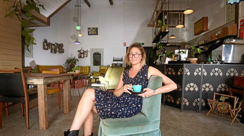 HERE TO STAY: Dusty Attic co-owner Kate Stroud is thrilled the new music bar and cafe has been nicknamed the 'Lismore Lounge'.
